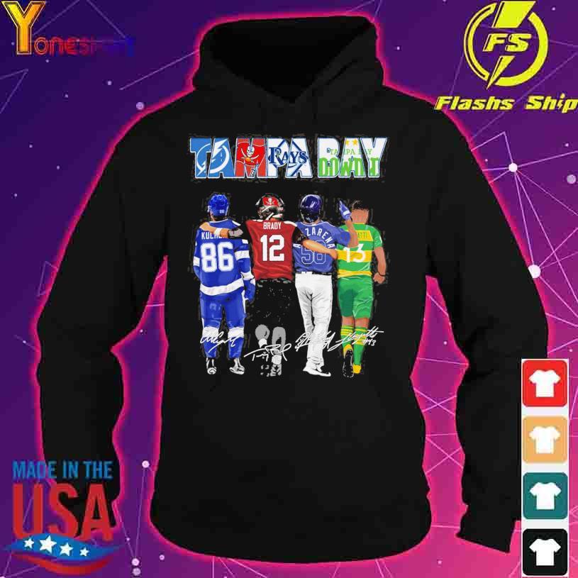 2021 Tampa Bay Lightning Tampa Bay Rays Tampa Bay Buccaneers Tampa Bay Downs signatures s hoodie