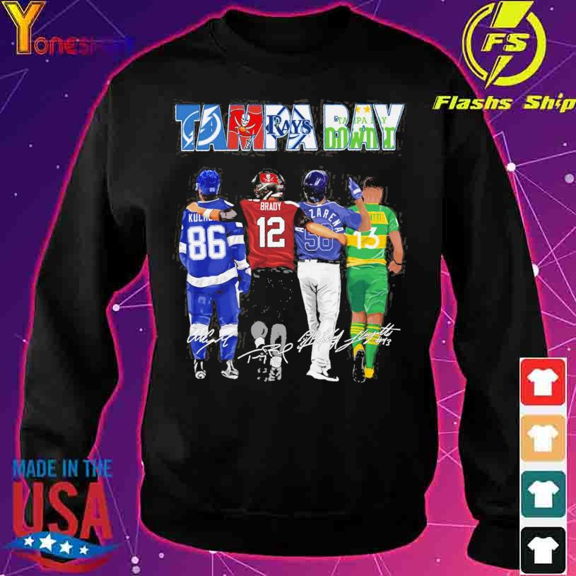 2021 Tampa Bay Lightning Tampa Bay Rays Tampa Bay Buccaneers Tampa Bay Downs signatures s sweater