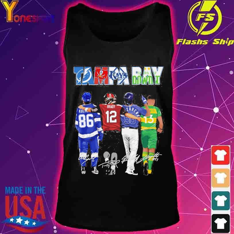 2021 Tampa Bay Lightning Tampa Bay Rays Tampa Bay Buccaneers Tampa Bay Downs signatures s tank top