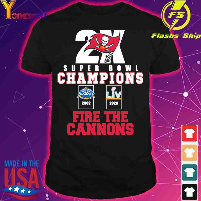 Tampa Bay Buccaneers 2X super Bowl champions fire the Cannons shirt