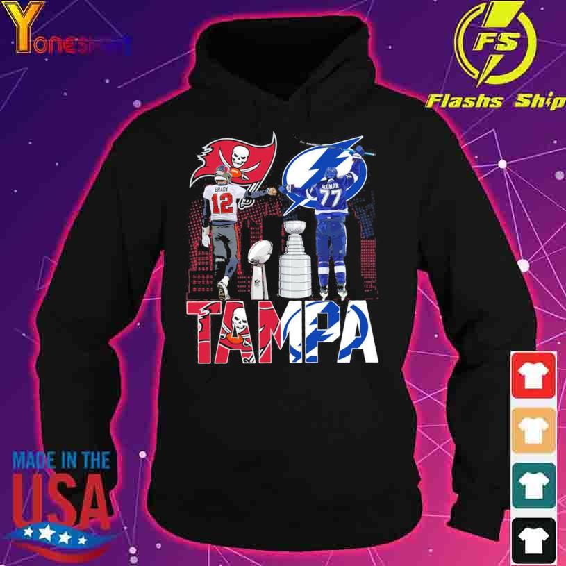 Tampa Bay Buccaneers Brady 12 and Tampa Bay Lightning Hedman 77 s hoodie