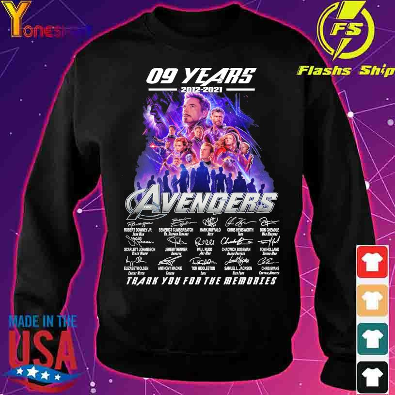 09 Years 2012 2021 Avenger thank you for the memories signatures s sweater