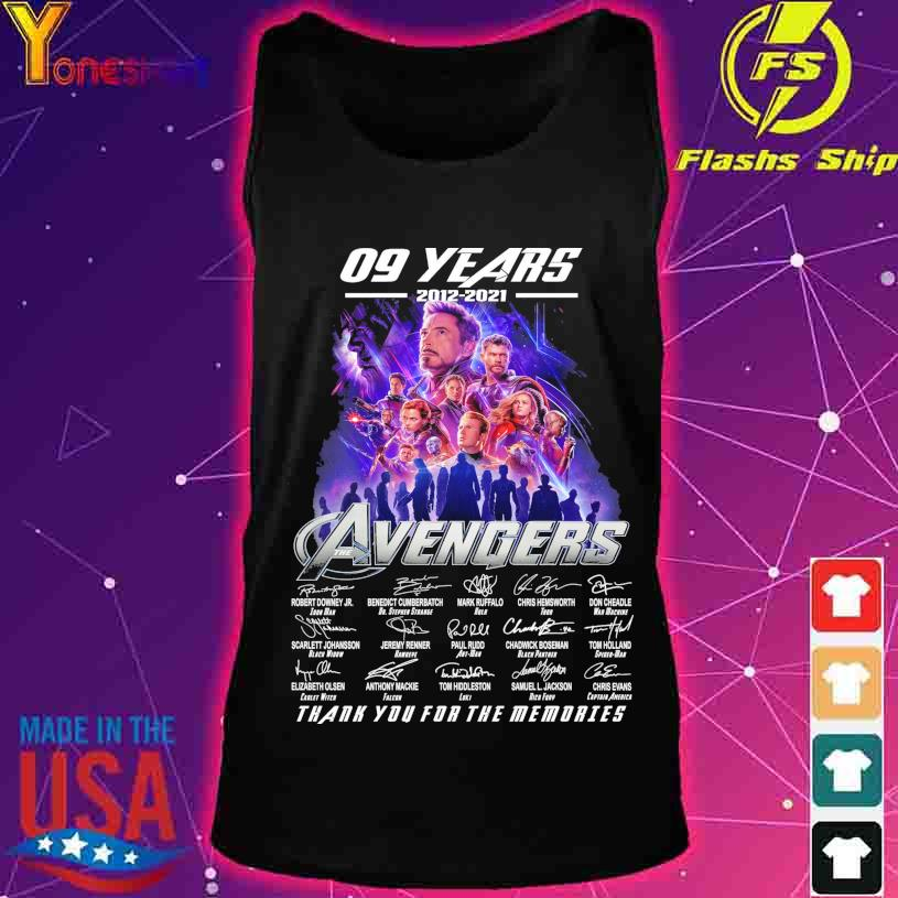 09 Years 2012 2021 Avenger thank you for the memories signatures s tank top