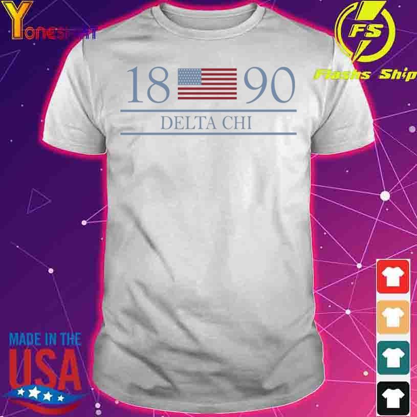 1980 Delta Chi flag shirt
