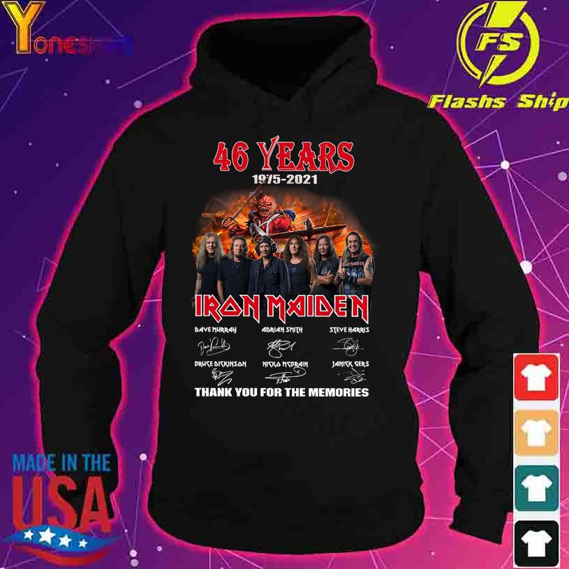 46 Years 1975 2021 Iron Maiden Dave Murray thank you for the memories signatures s hoodie