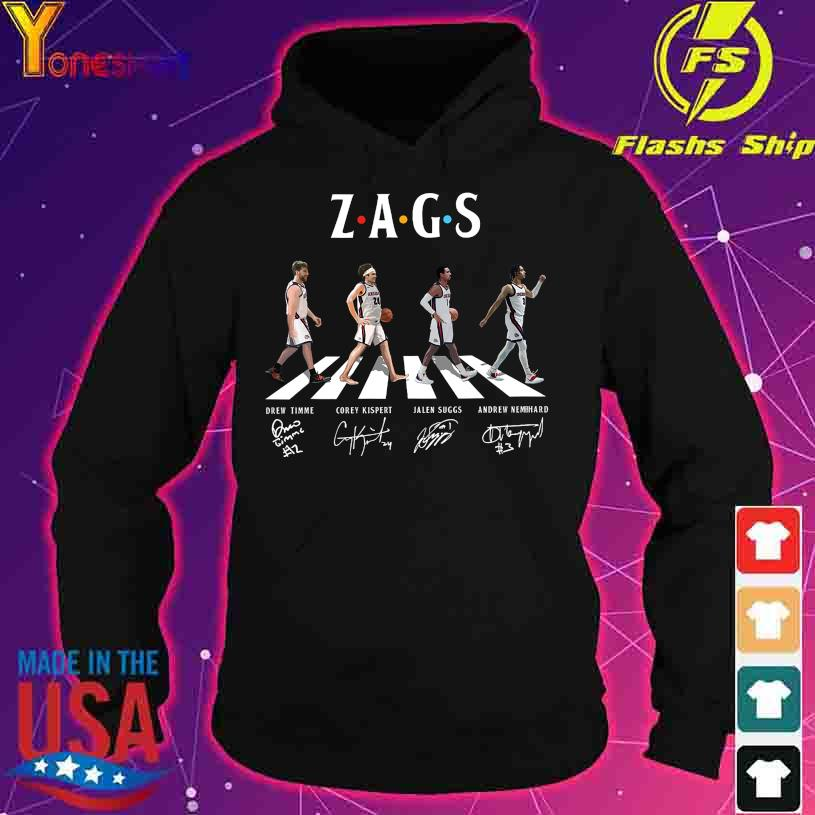 Abbey Road Zags Drew Timme Corey Kispert signatures s hoodie
