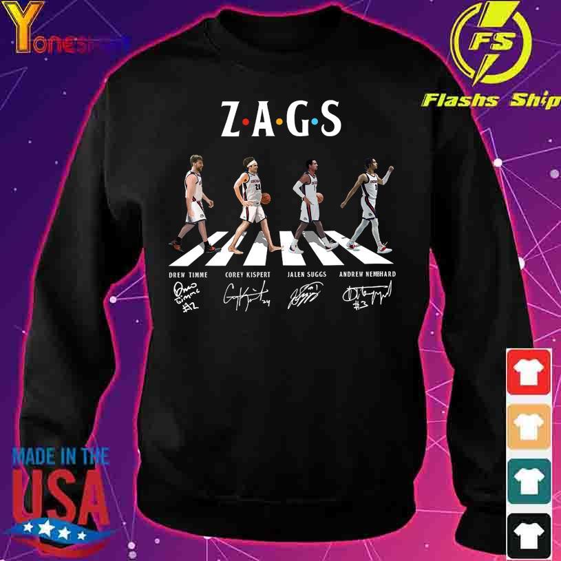 Abbey Road Zags Drew Timme Corey Kispert signatures s sweater