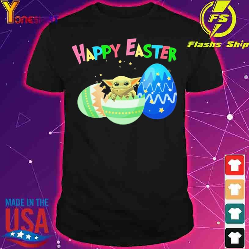 Baby Yoda Happy Easter shirt