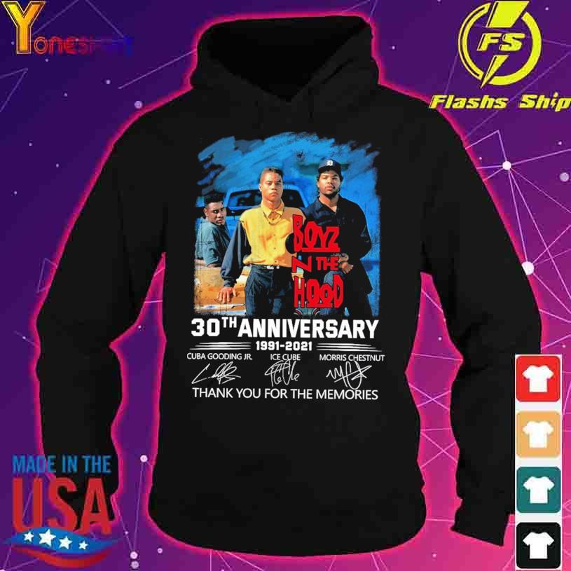 Boyz N The Hood 30TH Anniversary 1991 2021 Cuba Gooding Jr Ice Cube Morris Chestnut signatures s hoodie