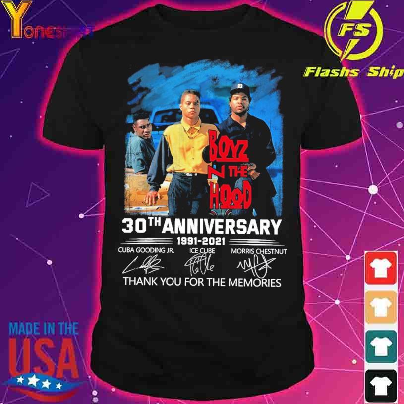Boyz N The Hood 30TH Anniversary 1991 2021 Cuba Gooding Jr Ice Cube Morris Chestnut signatures shirt