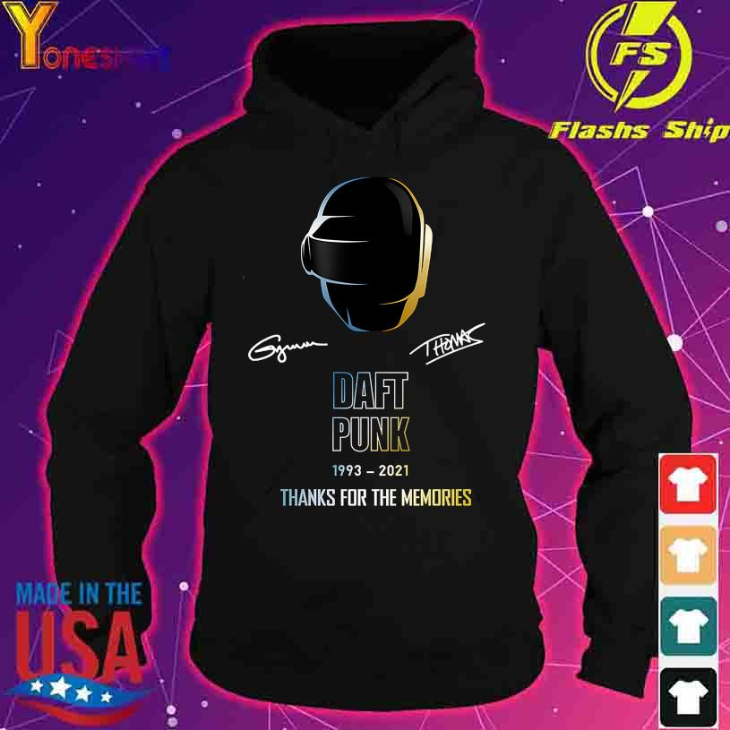 Daft Punk 1993 2021 thank you for the memories signatures s hoodie