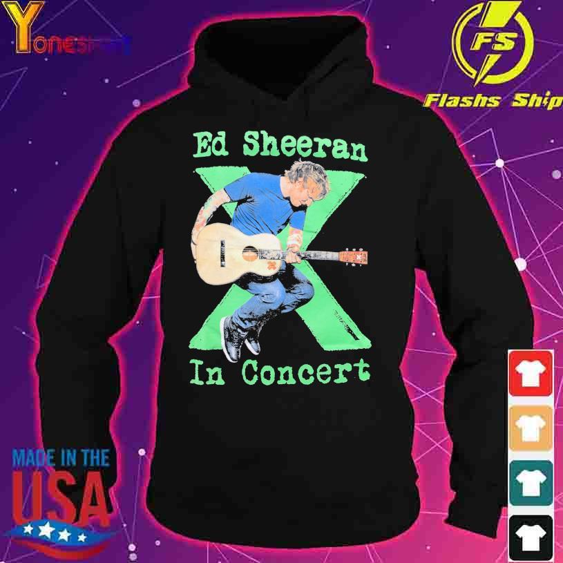 Ed Sheeran in concert s hoodie