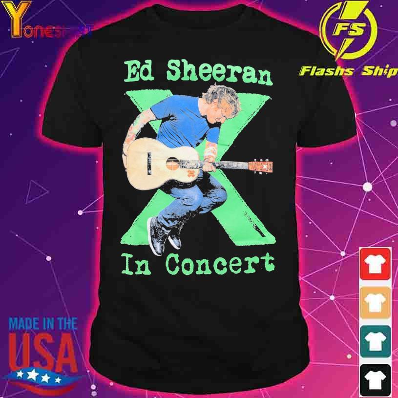 Ed Sheeran in concert shirt