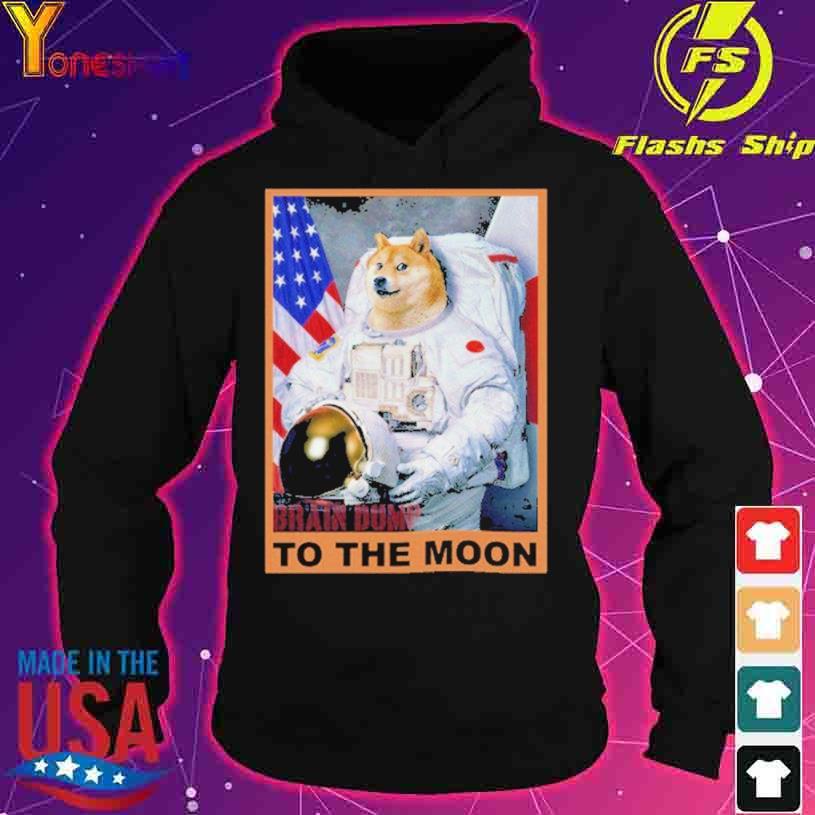 Shiba American Nasa To The Moon s hoodie