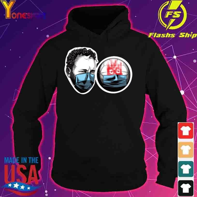 Tom Hanks and Wilson Castaway mask s hoodie