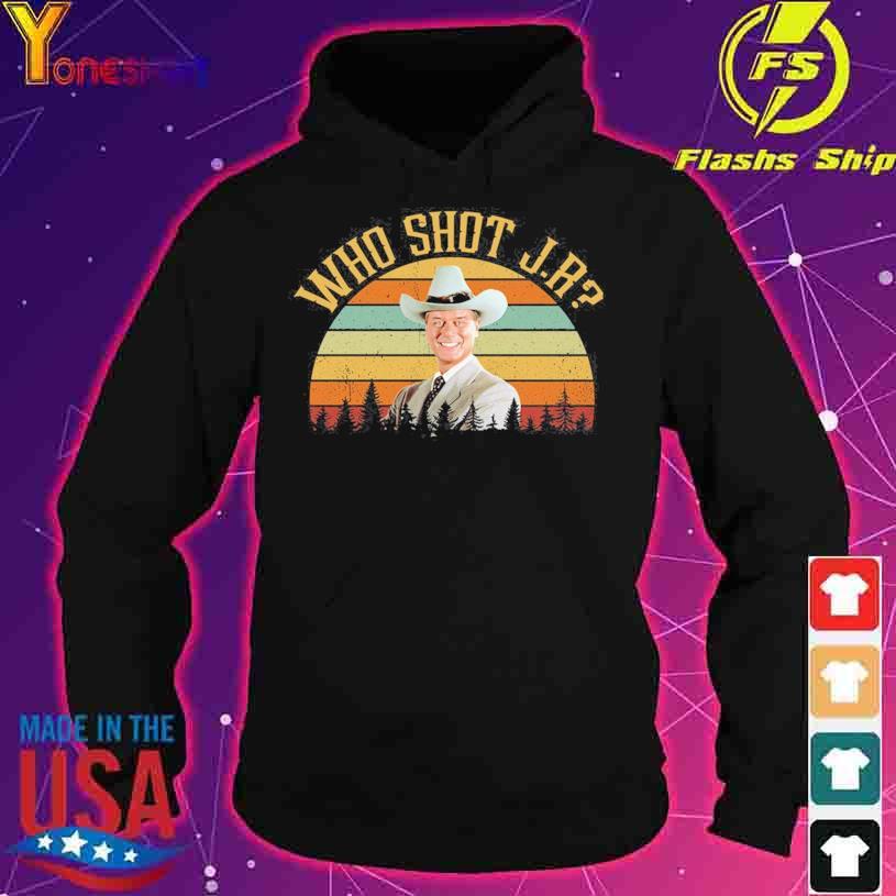 Who Shot Jr Ewing Larry Hagman Dallas vintage s hoodie