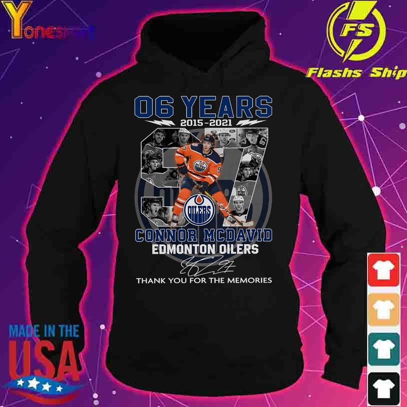 06 Years 2015 2021 Connor Mcdavid Edmonton Oilers signature s hoodie