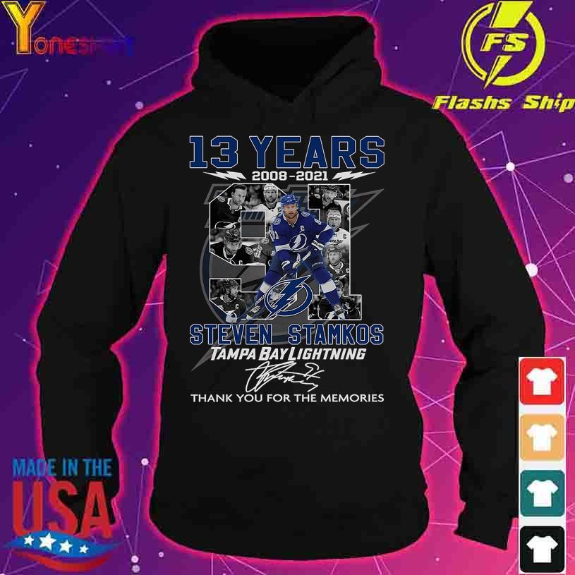13 Years 2008 2021 Steven Stamkos Tampa Bay Lightning signature s hoodie