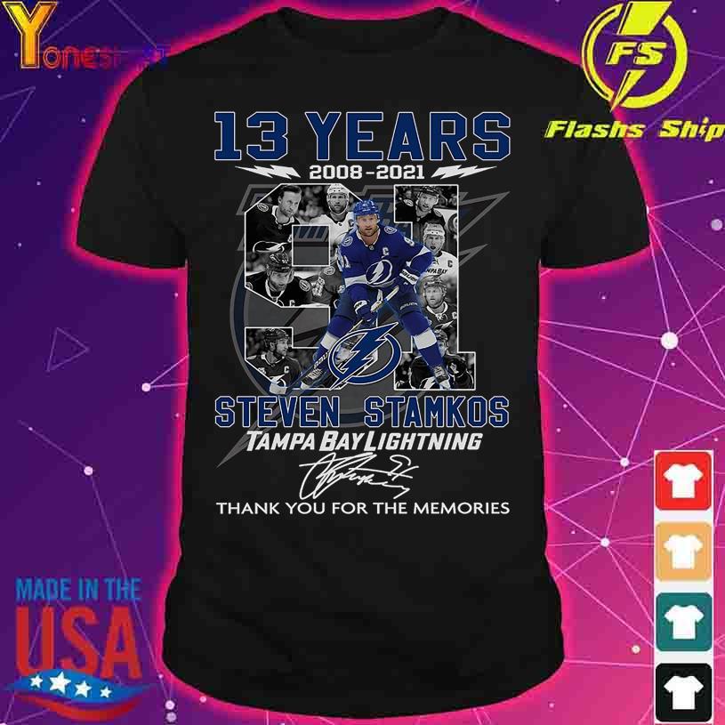 13 Years 2008 2021 Steven Stamkos Tampa Bay Lightning signature shirt