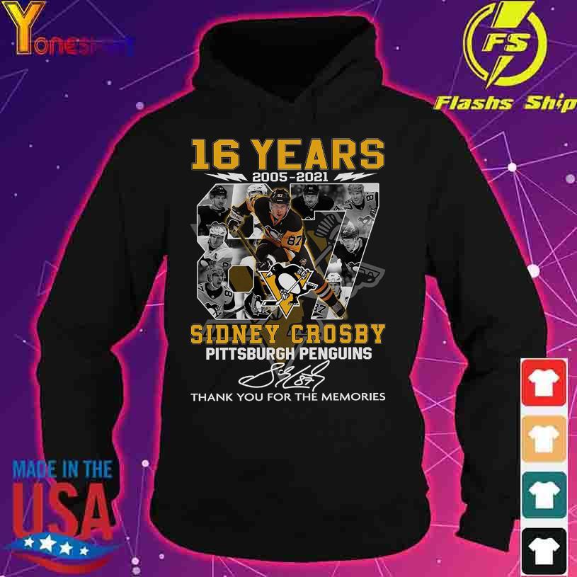 16 Years 2005 2021 Sidney Crosby Pittsburgh Penguins signature s hoodie