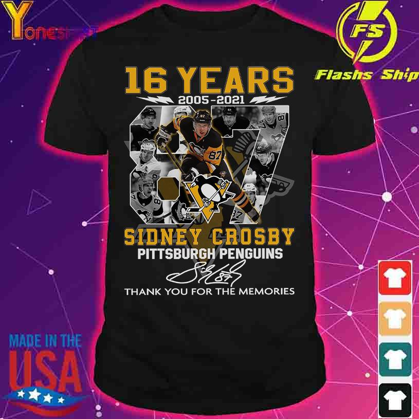 16 Years 2005 2021 Sidney Crosby Pittsburgh Penguins signature shirt