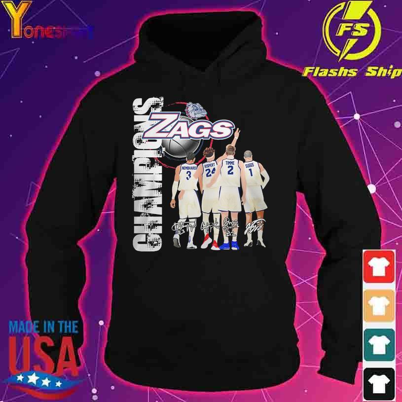 2021 Champions Gonzaga Bulldogs Zags Nembhard Kispert Timme Suggs signatures s hoodie