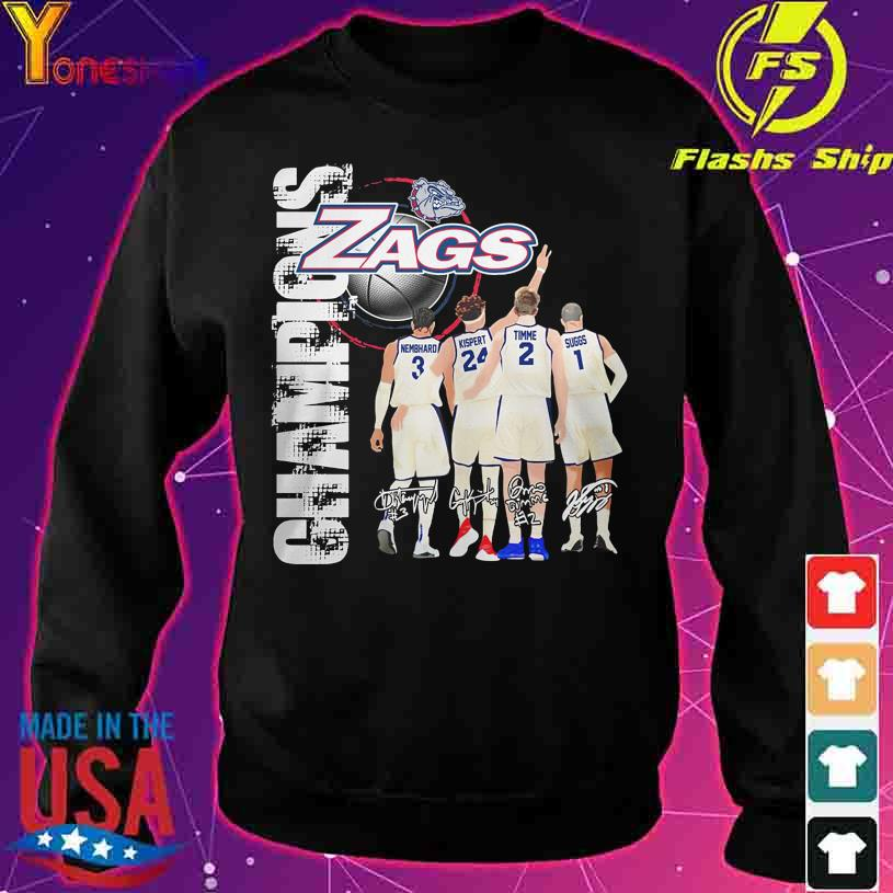 2021 Champions Gonzaga Bulldogs Zags Nembhard Kispert Timme Suggs signatures s sweater