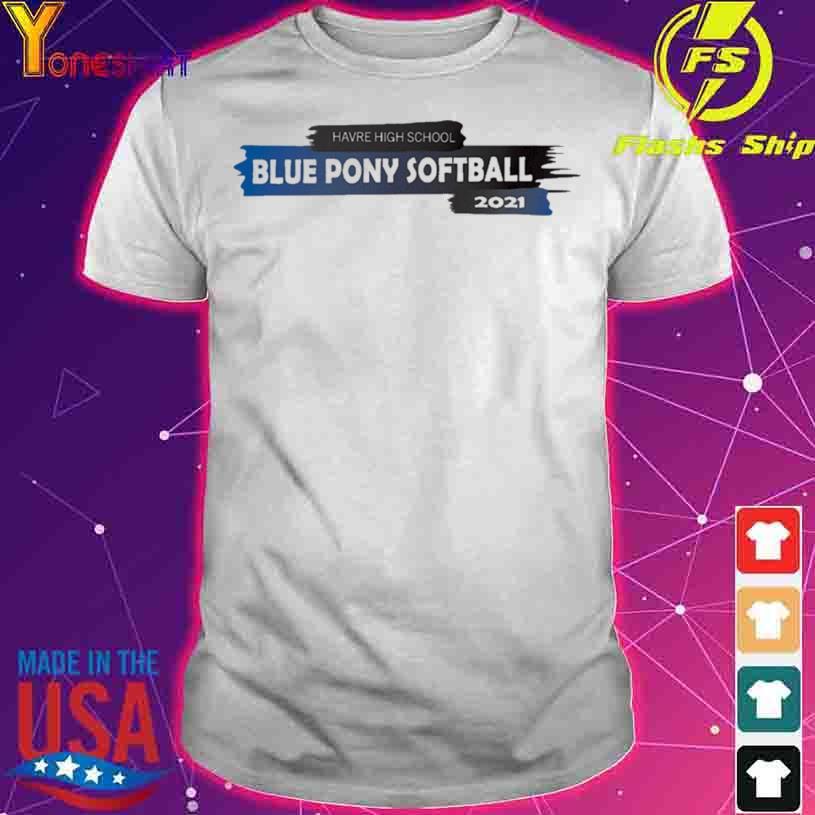 2021 HHS Blue Pony Softball Team Shirt