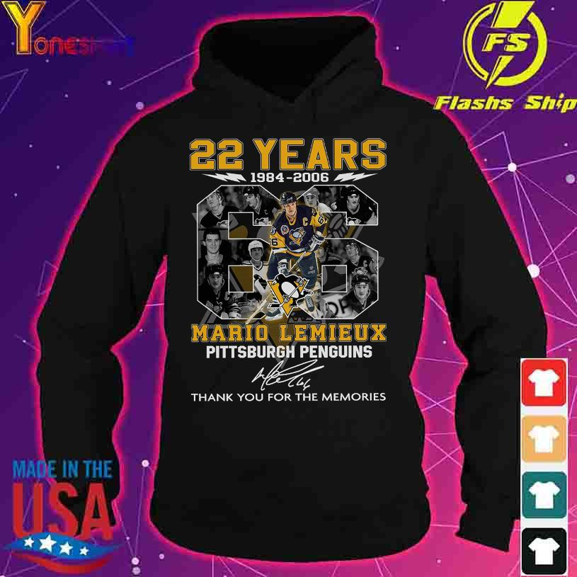 22 Years 1984 2006 Mario Lemieux Pittsburgh Penguins signature s hoodie