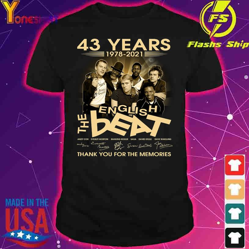 43 Years 1978 2020 The English Beat thank You for the memories signatures shirt