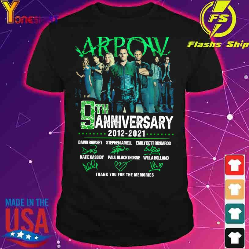 Arpow 9TH Anniversary 2012 2021 Thank You for the memories signatures shirt