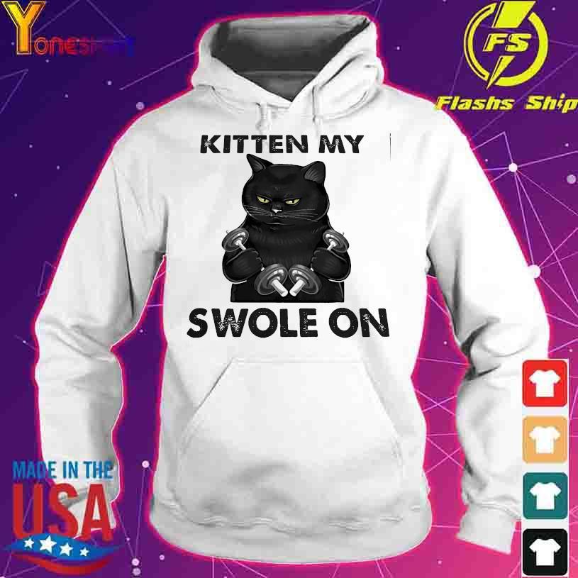 Black cat gym kitten my swole on s hoodie