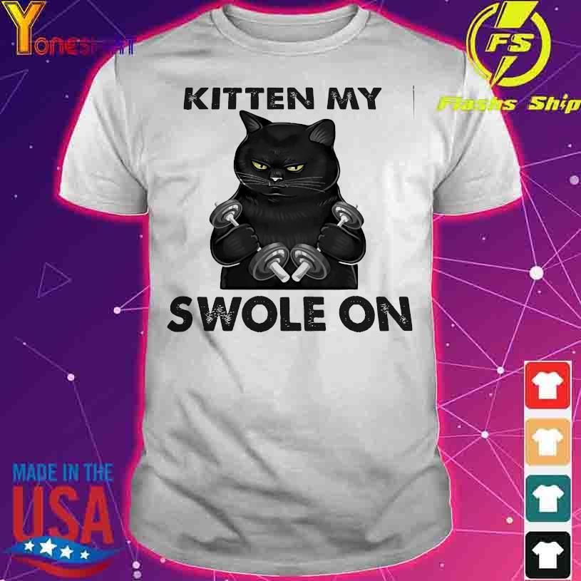 Black cat gym kitten my swole on shirt
