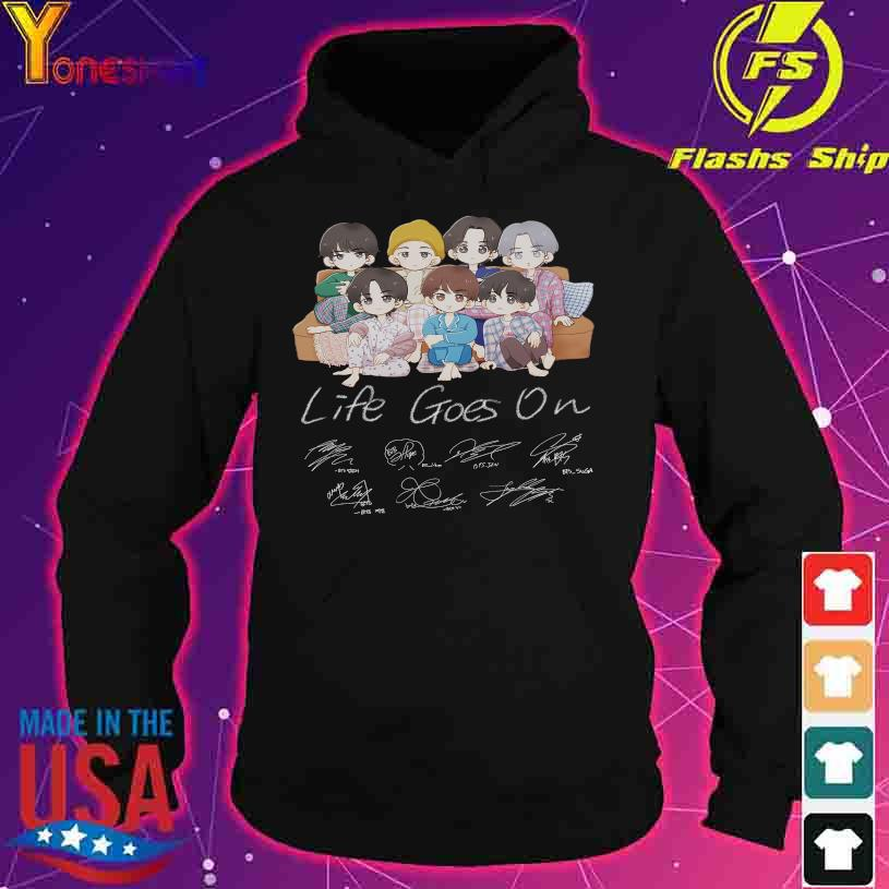 Chibi BTS Life Goes On signatures s hoodie