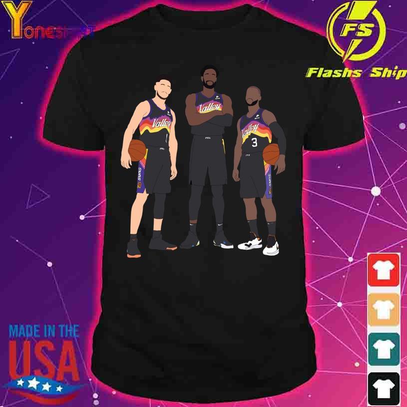 Devin Booker Chris Paul Deandre Ayton shirt
