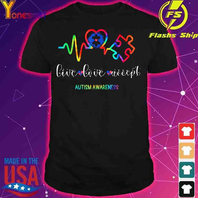 Health live love accept autism awareness shirt