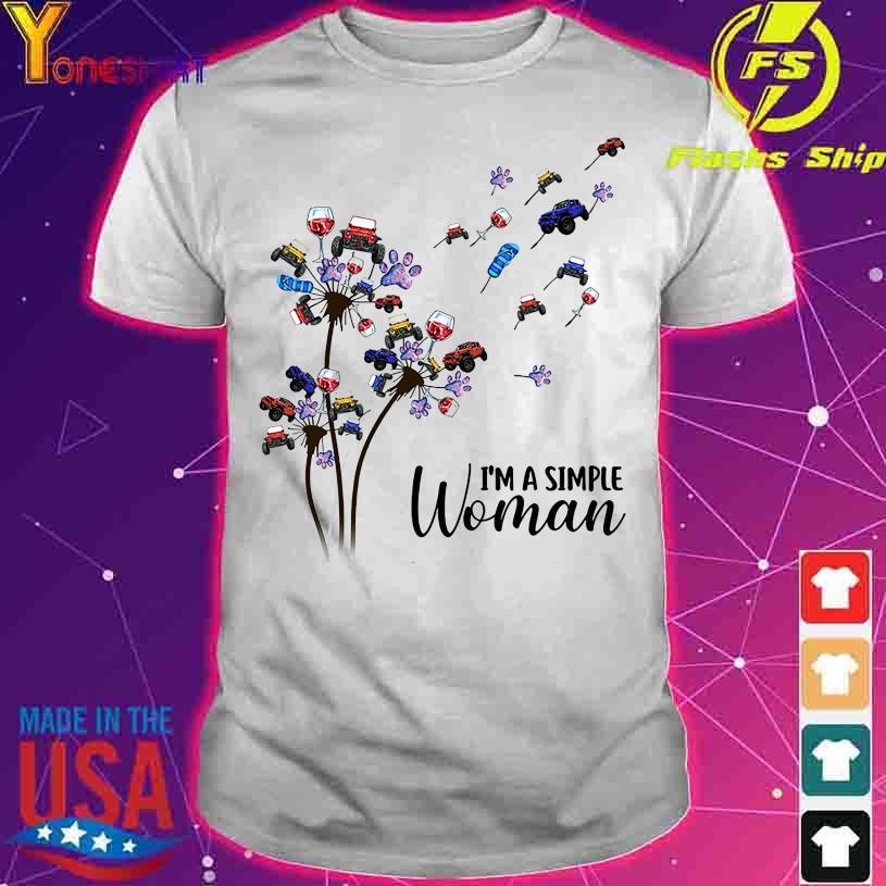 Jeep wine dog dandelion I'm a simple woman shirt