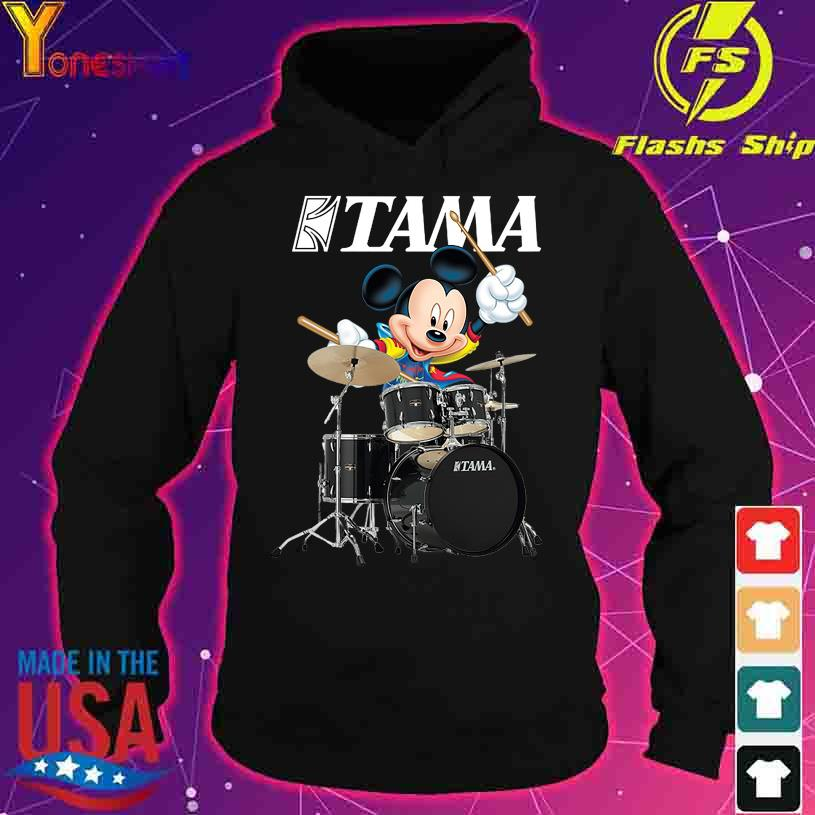 Mickey Mouse Playing Tama Drums logo s hoodie
