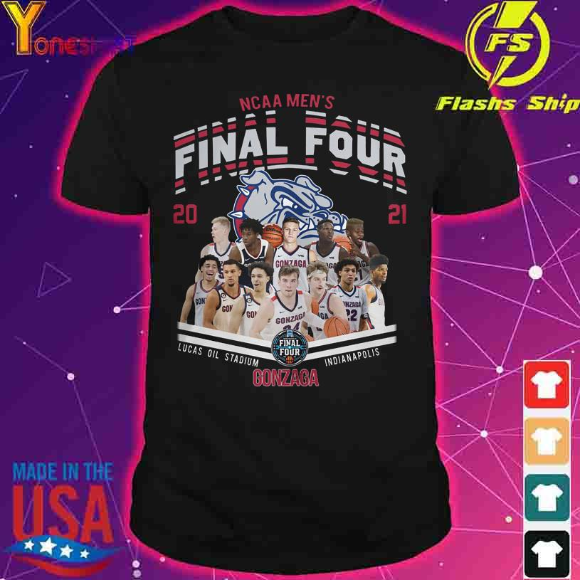 NCAA Men's Final Four 2021 Lucas Oil Stadium Indianapolis Gonzaga Bulldog shirt