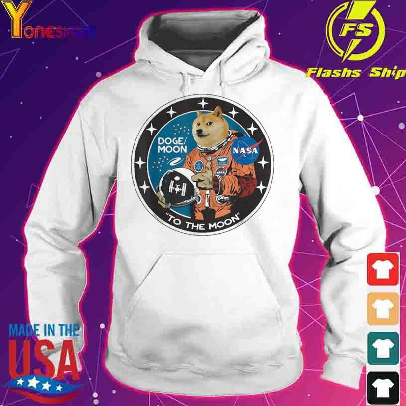 Official Dogecoin Astronaut To the Moon Blockchain HODL Crypto Shirt hoodie