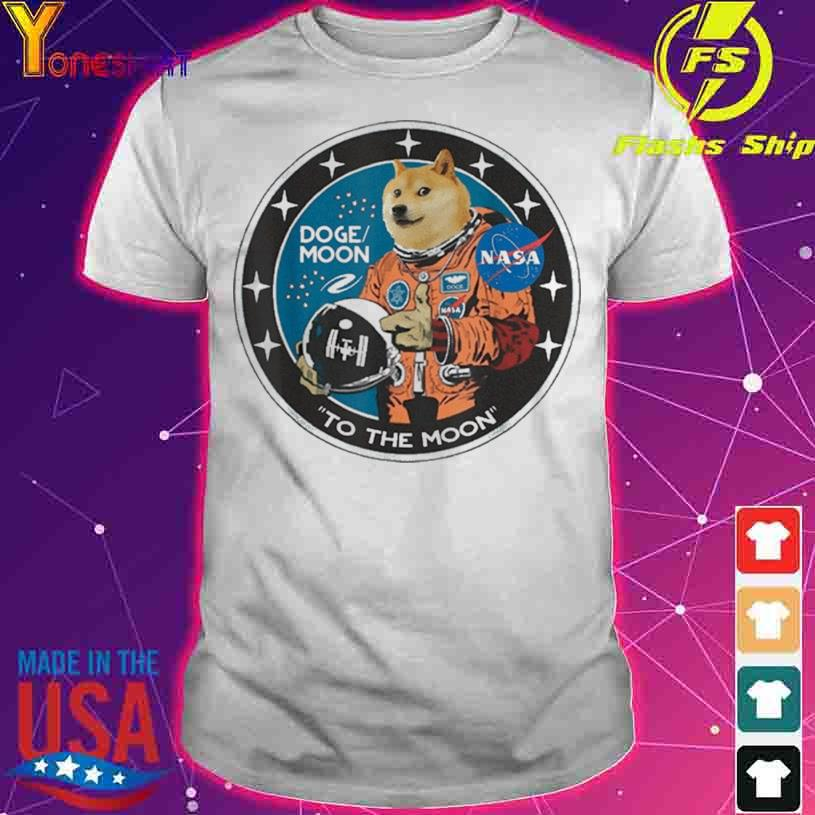 Official Dogecoin Astronaut To the Moon Blockchain HODL Crypto Shirt