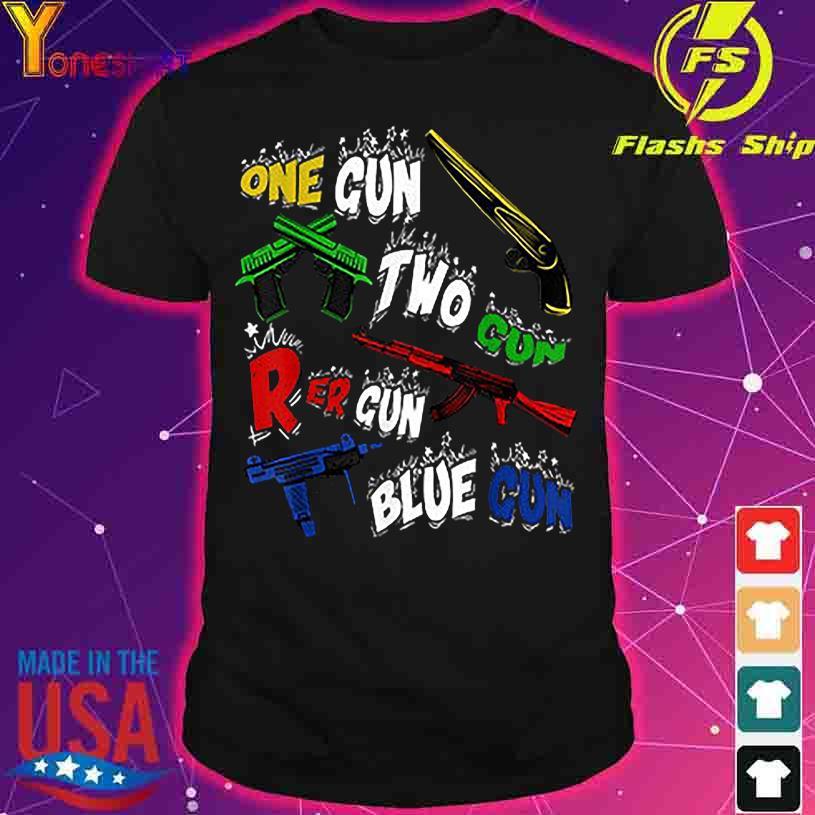 Official One Gun Two Gun Red Gun Blue Gun shirt