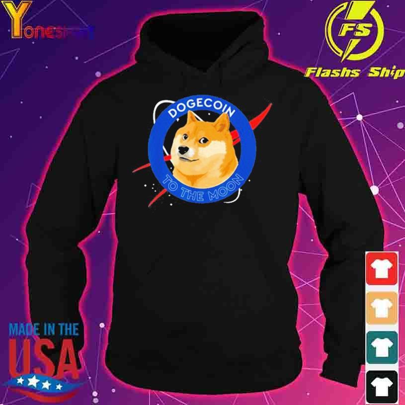 Shiba Inu Dogecoin To The Moon Funny Crypto Meme s hoodie
