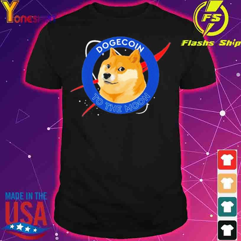 Shiba Inu Dogecoin To The Moon Funny Crypto Meme shirt