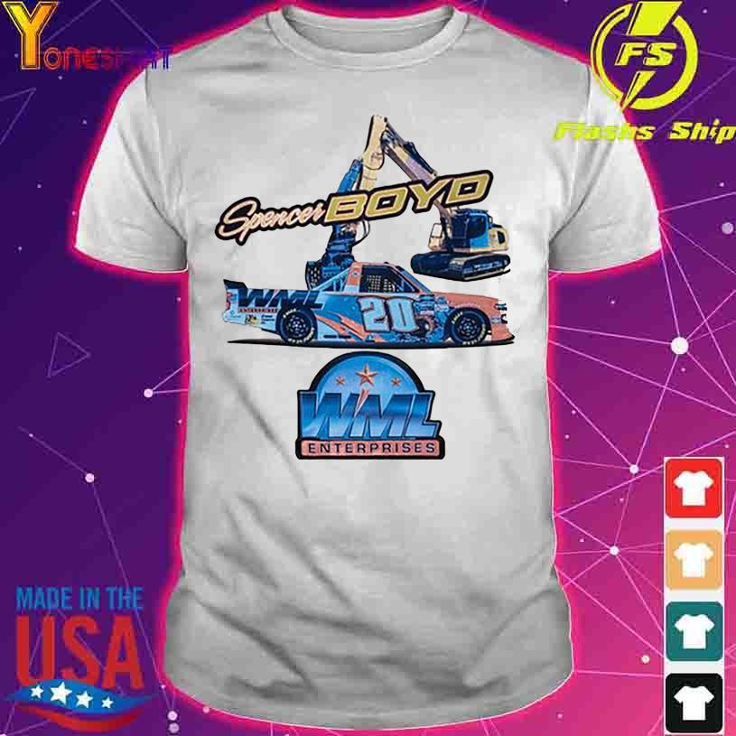 Spencer Boyd WML Enterprises 20 shirt