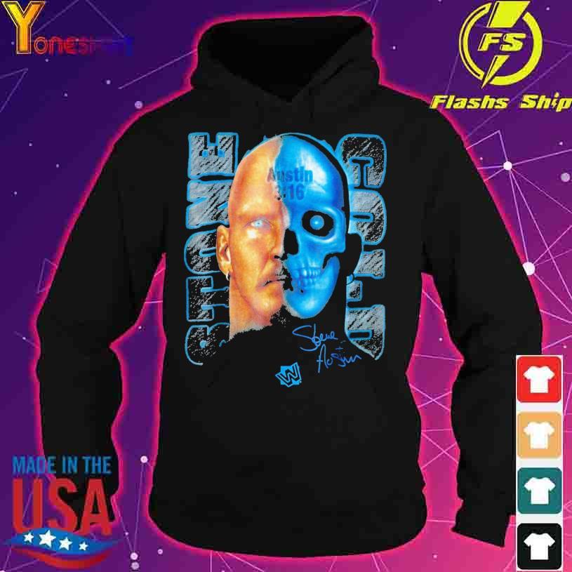 Stone Cold Steve Austin Skull Graphic austin 3 16 signature s hoodie