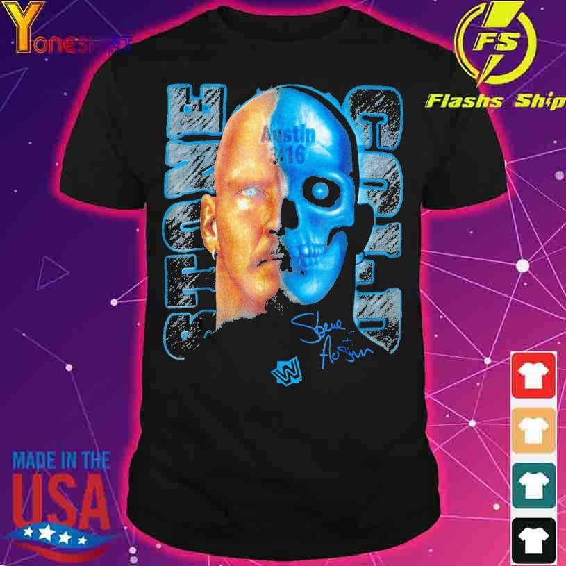 Stone Cold Steve Austin Skull Graphic austin 3 16 signature shirt