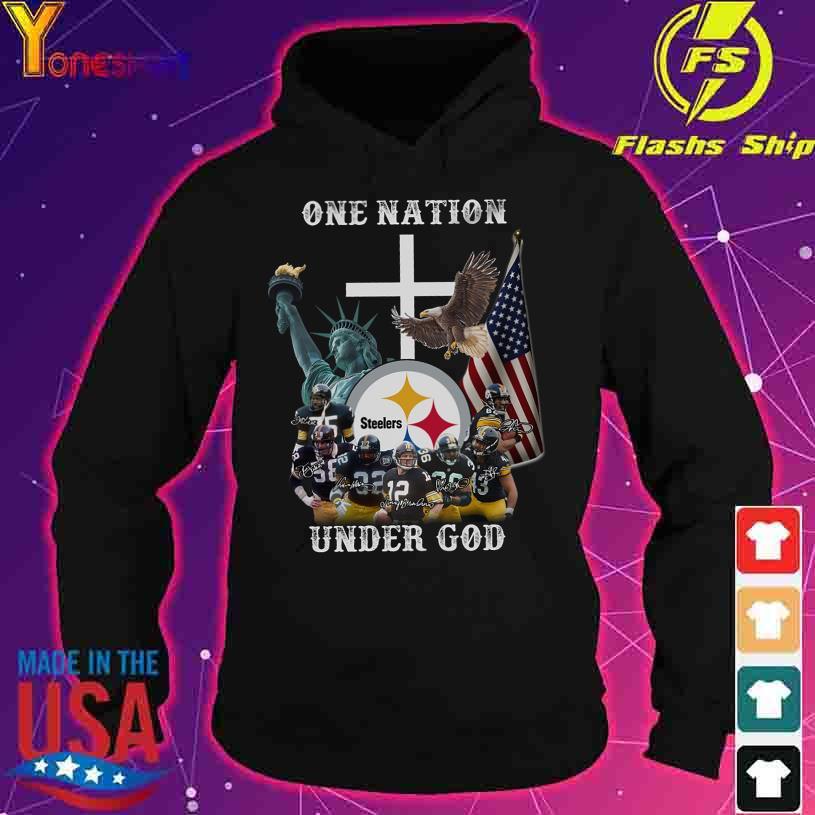 Trending One Nation Steelers under god signatures s hoodie
