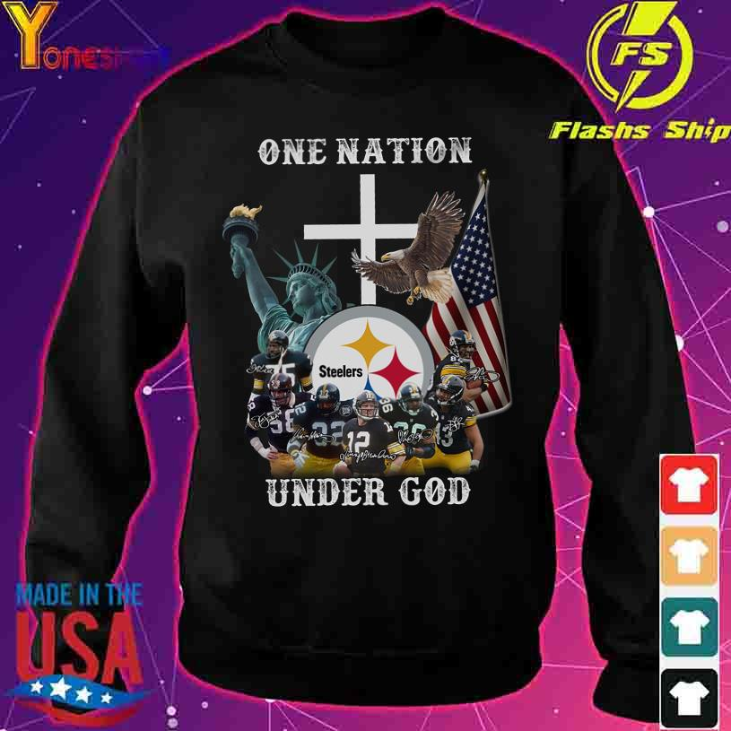 Trending One Nation Steelers under god signatures s sweater