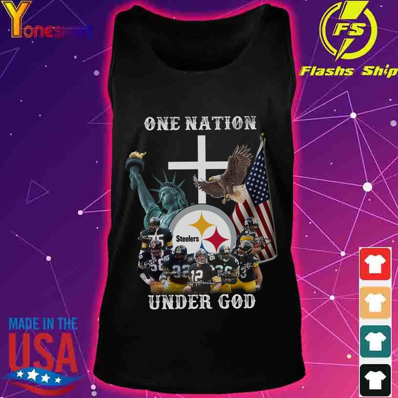 Trending One Nation Steelers under god signatures s tank top